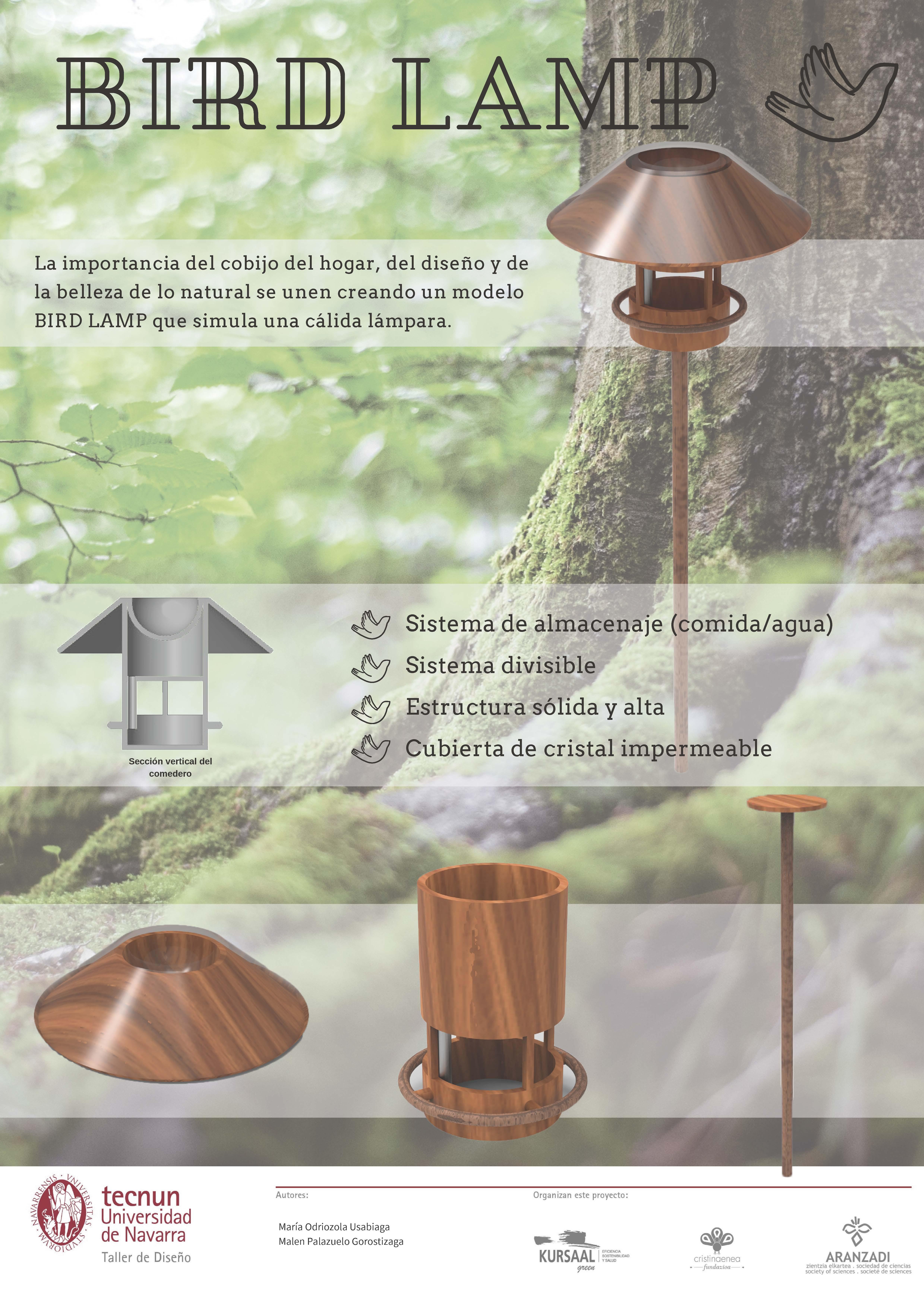 Taller de diseño - Tecnum - Txoriak - BIRDLAMP
