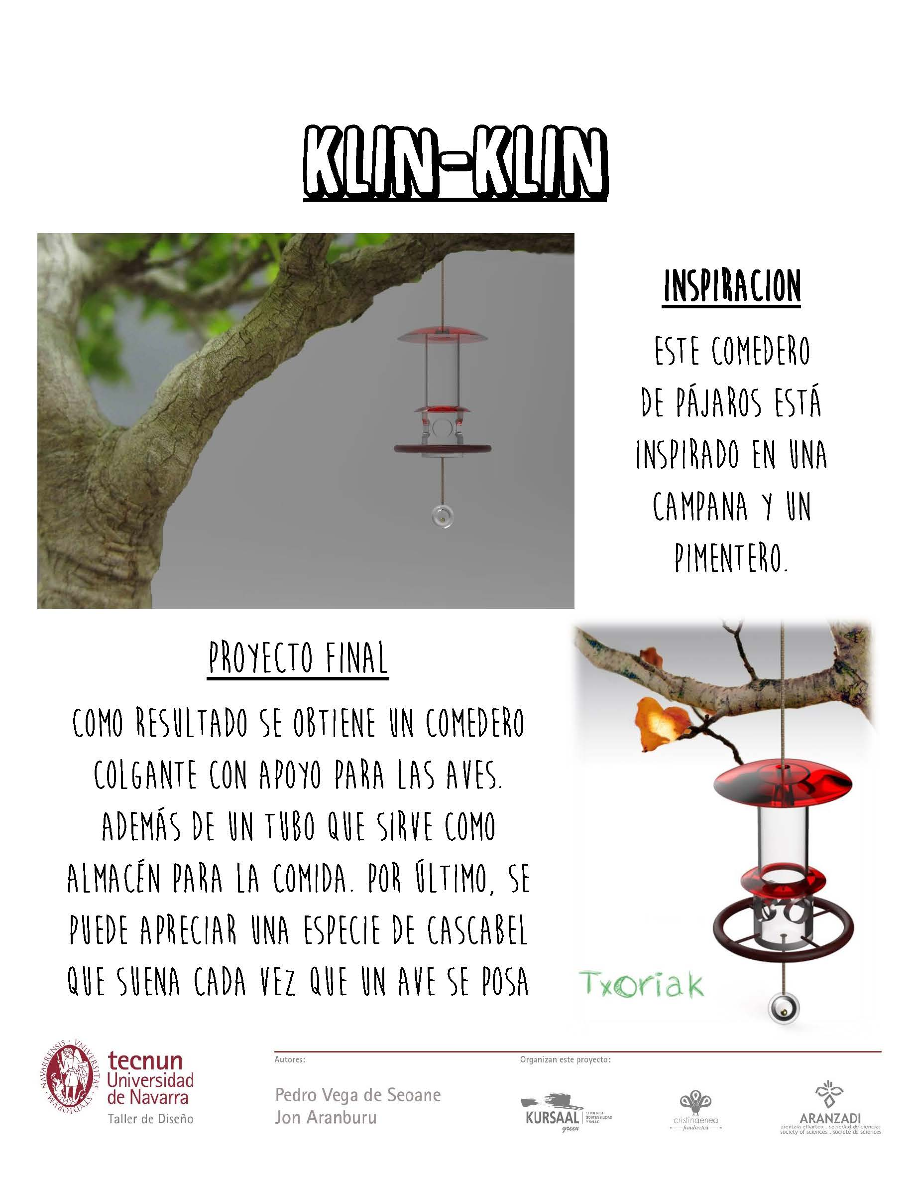 Taller de diseño - Tecnum - Txoriak - KLIN KLIN